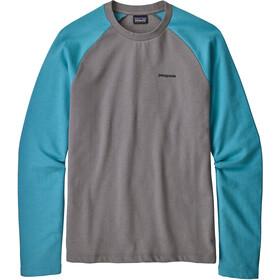 Patagonia P-6 Logo LW Crew Sweatshirt Men feather grey with mako blue